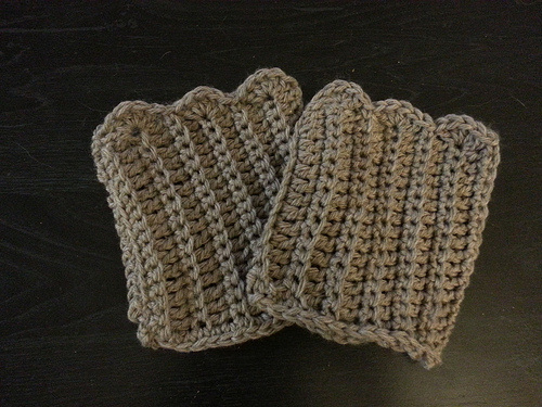Finished boot cuffs