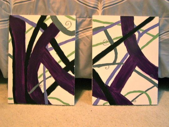 Finished paintings